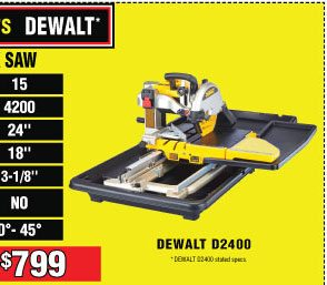 Harbor Freight Tile Saw Coupon