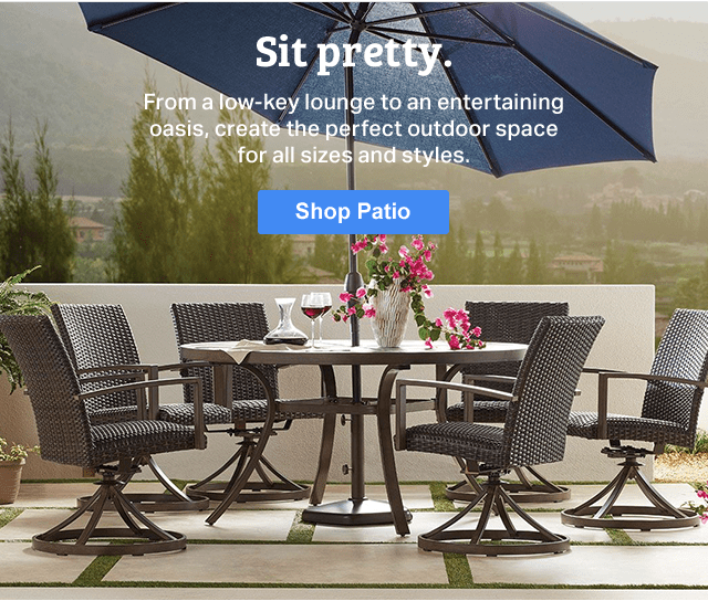 get your patio in full swing for spring