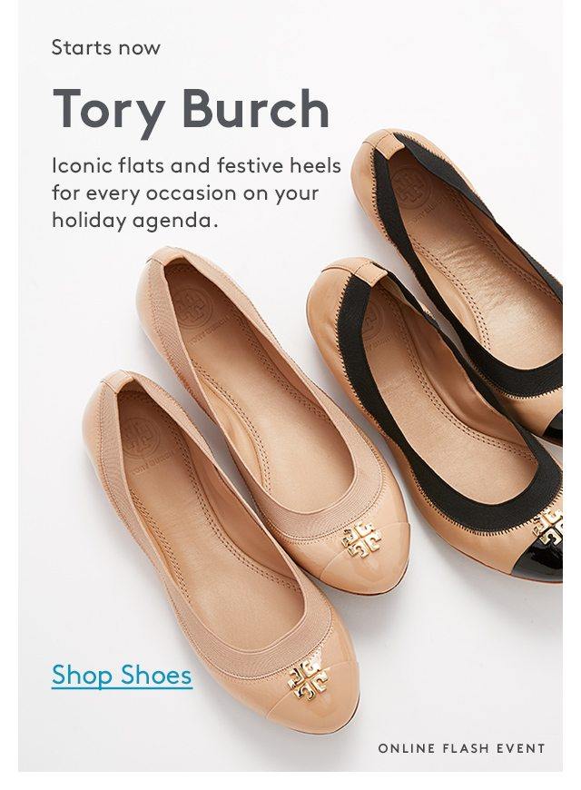 the tory burch event starts now