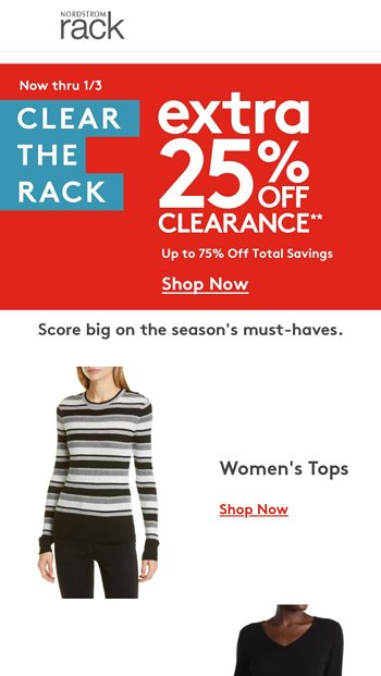 75 off clearance nordstrom rack