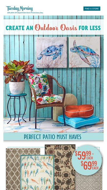 warmer weather with perfect patio deals