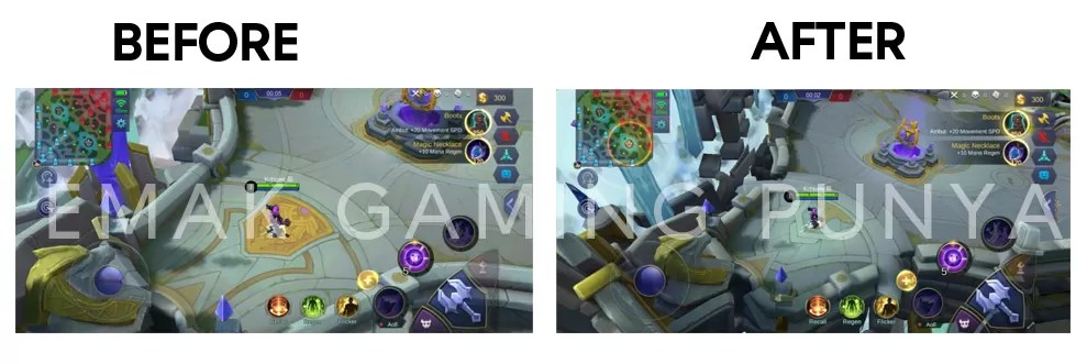 BEFORE AFTER SCRIPT DRONE VIEW MAP MOBILE LEGENDS