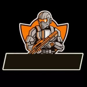 logo guild ff pubg prajurit orange