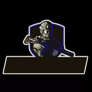 lambang guild ff pubg soldier biru