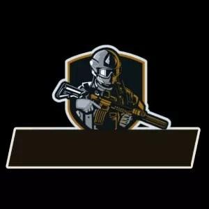 logo guild ff pubg soldier orange