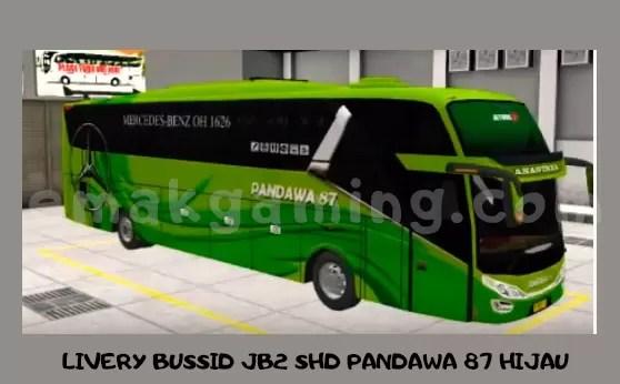 LIVERY BUSSID JB2 SHD PANDAWA 87 HIJAU