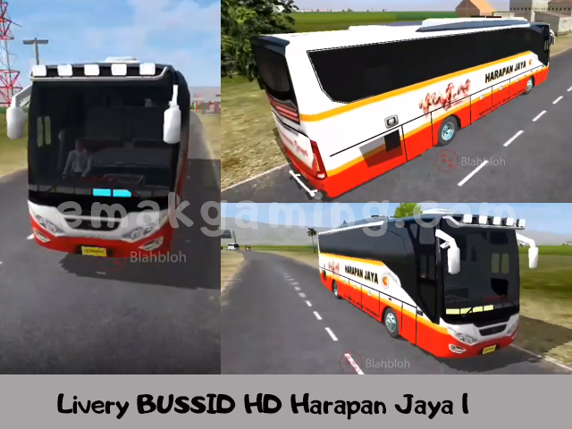 Livery BUSSID HD Harapan Jaya