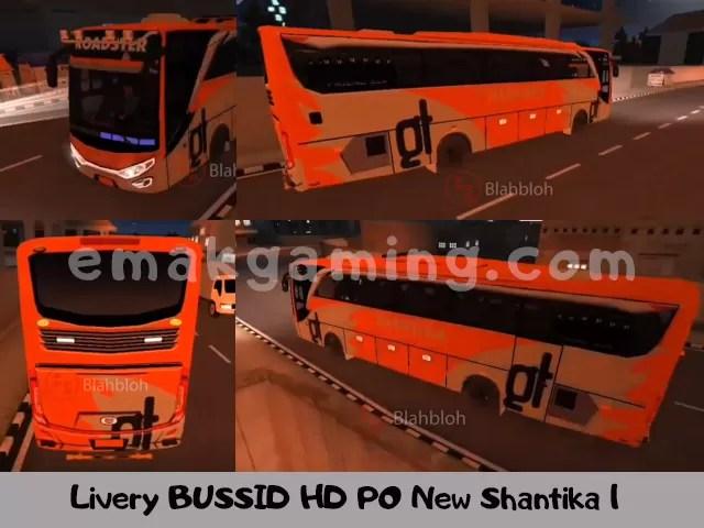 Livery BUSSID HD PO New Shantika