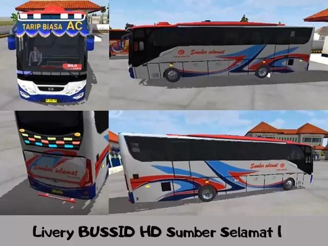 Livery BUSSID HD Sumber Selamat