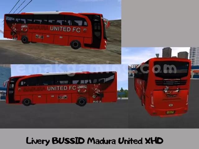 Livery BUSSID madura united XHD