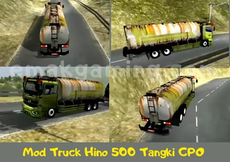 Mod BUSSID Truck Hino 500 Tangki CPO