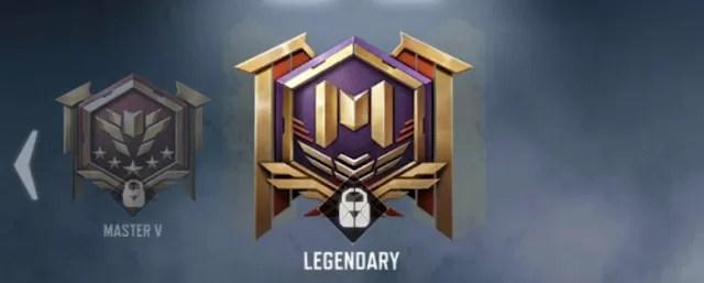 Urutan rank call of duty mobile legendary