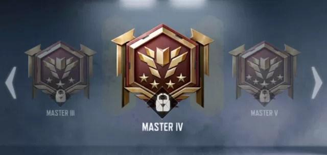 Urutan rank codm master