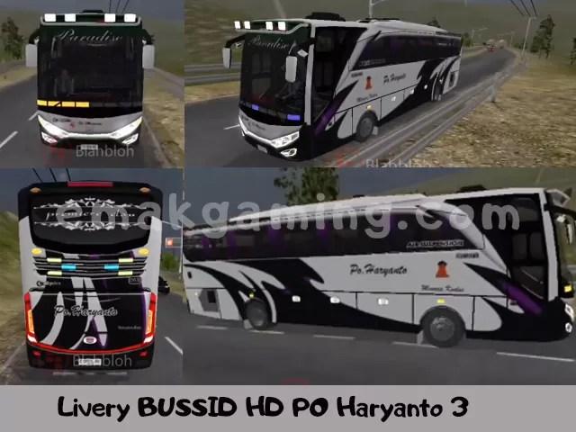 Livery BUSSID HD PO Haryanto