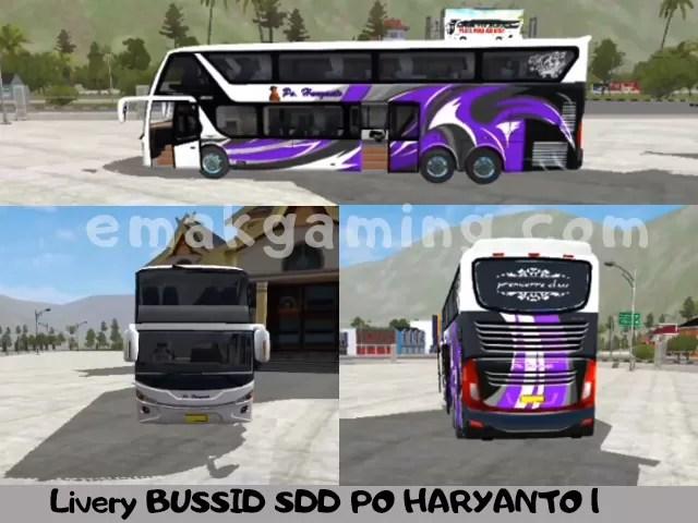 Livery BUSSID SDD PO HARYANTO