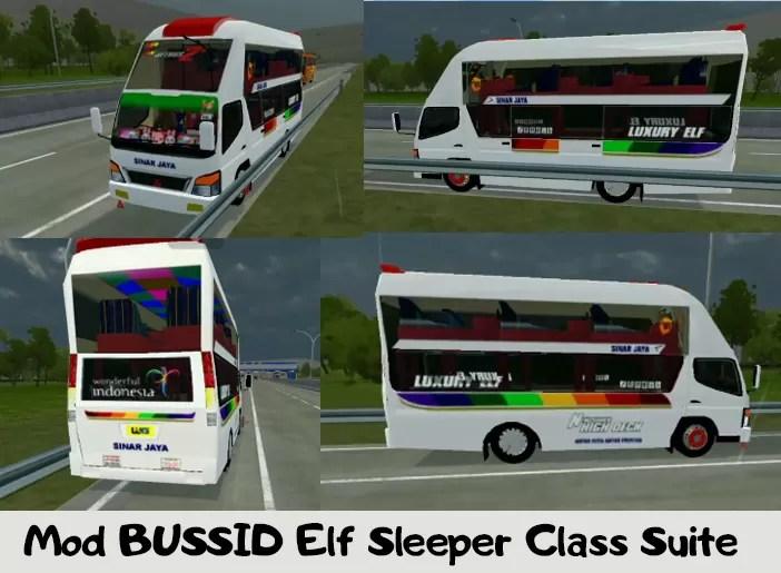 Mod BUSSID Elf Sleeper Class Suite