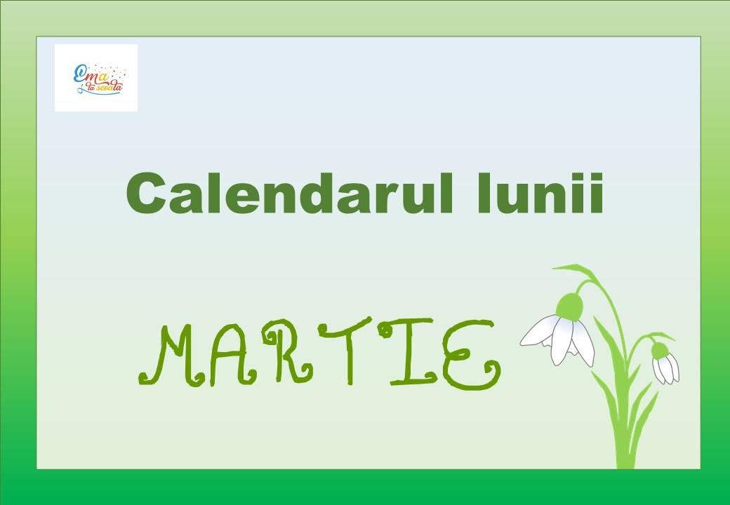 calendarul lunii martie