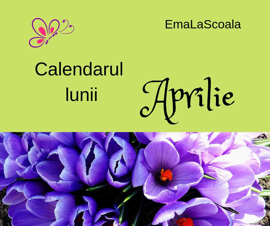 calendarul lunii aprilie