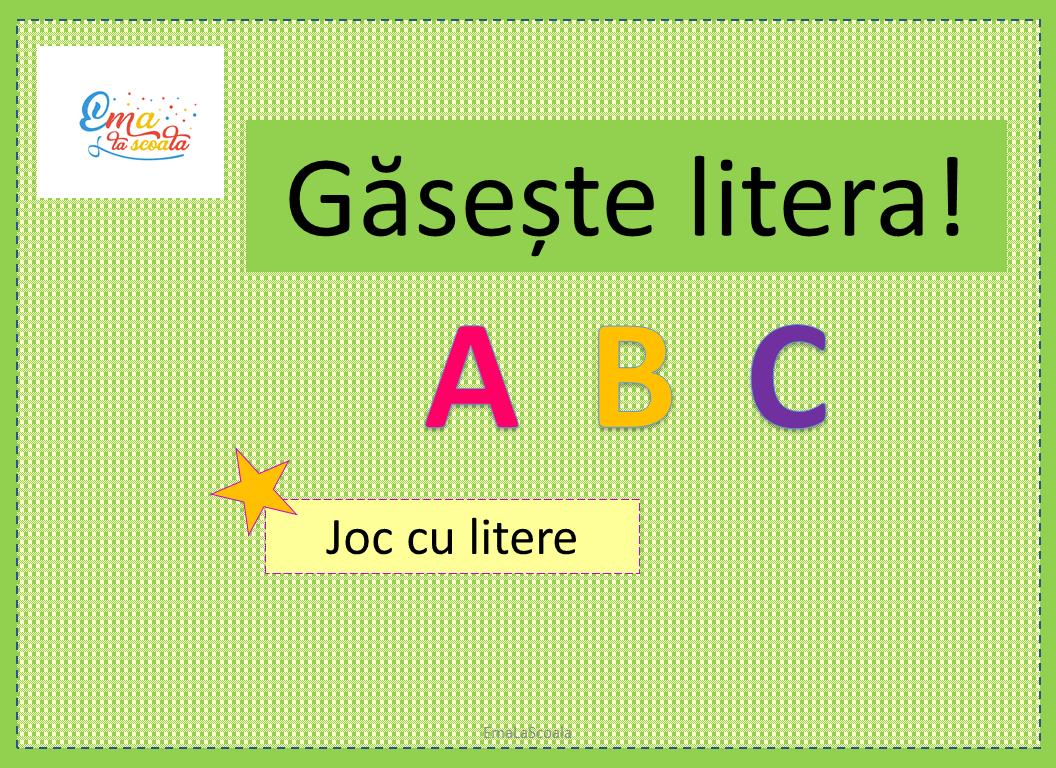 joc cu alfabetul