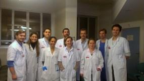 Κατά τη διάρκεια της μετεκπαίδευσης στη Λαπαροσκοπική Χειρουργική του Πεπτικού Συστήματος (Hôpital Beaujon, Paris 2014).