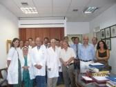 Κατά τη διάρκεια της ειδίκευσης, με τα μέλη του Διδακτικού και Ερευνητικού Προσωπικού και τους ειδικευόμενους της Α' Χειρουργικής Κλινικής του Εθνικού και Καποδιστριακού Πανεπιστημίου Αθηνών (Λαϊκό Νοσοκομείο, Αθήνα 2011).