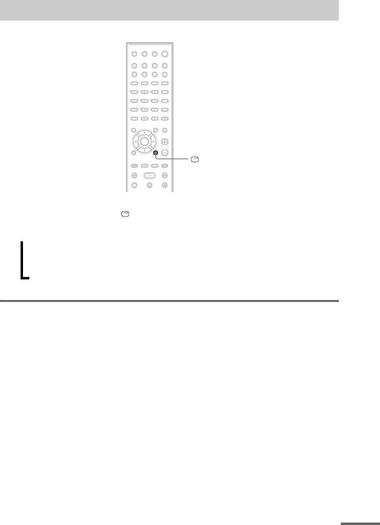 Домашний кинотеатр Sony DAV-DZ500F. Руководство по дисплею
