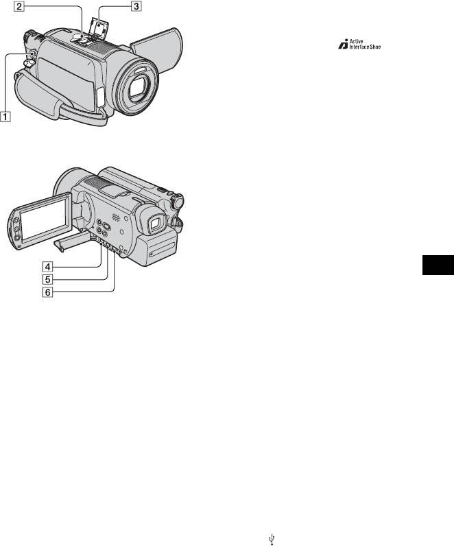 Видеокамера Sony DCR-SR100E. Использование разъемов для