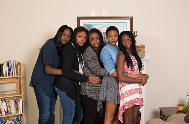 Rev. DePayne Middleton-Doctor's four girls with their Aunt, Bethane.