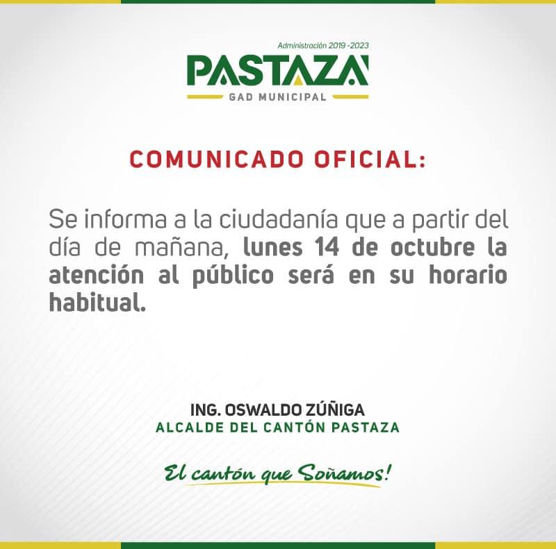 EMAPAST EP Informa A La Ciudadanía: