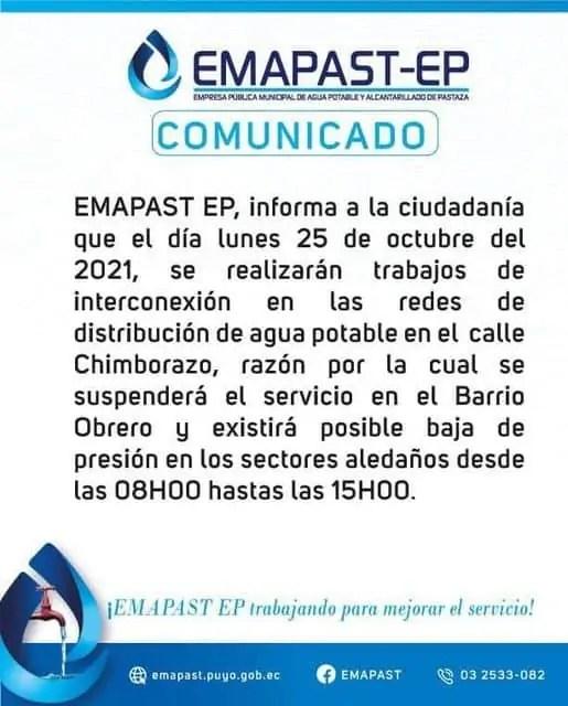 COMUNICADO 25 10 2021