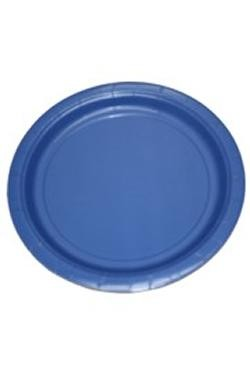 Blue Paper Plates 9 inch