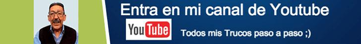 suscribirse a mi canal de Youtube