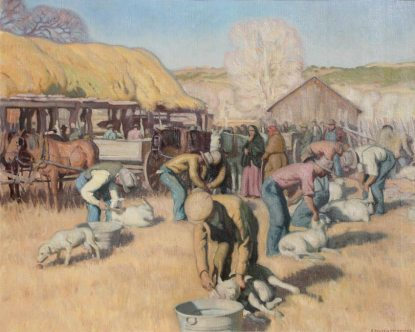 "E Martin Hennings | ""Shearing Sheep, Los Cordovas"""