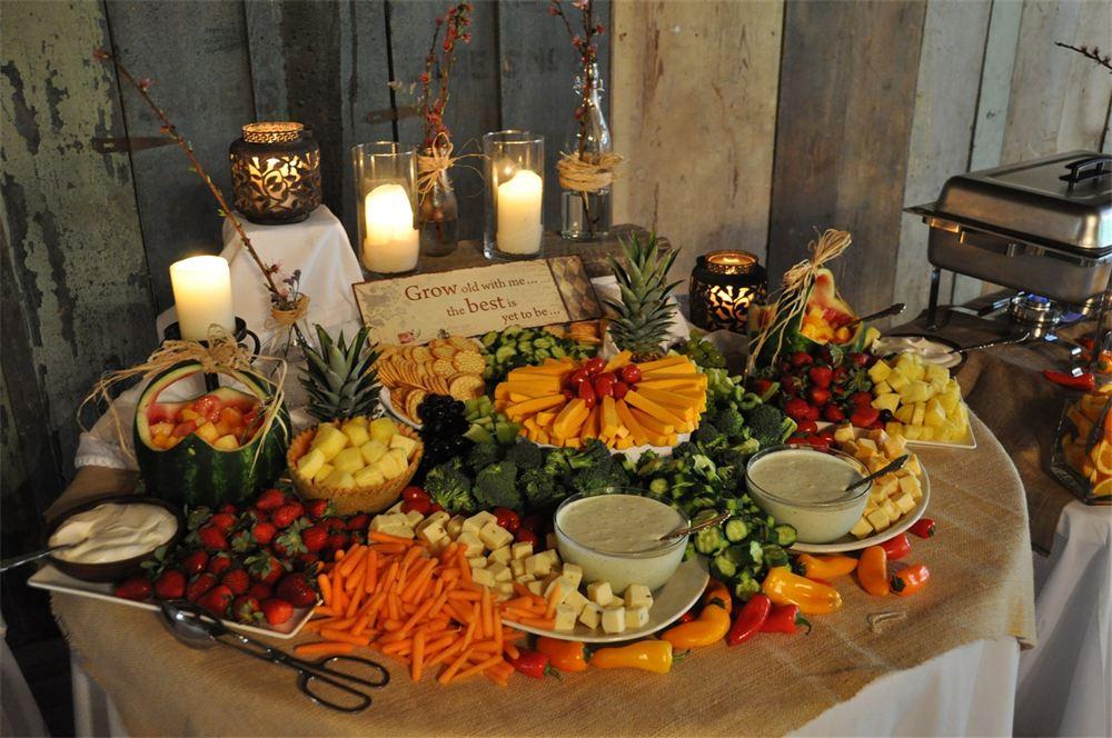 Rustic Wedding Food Displays