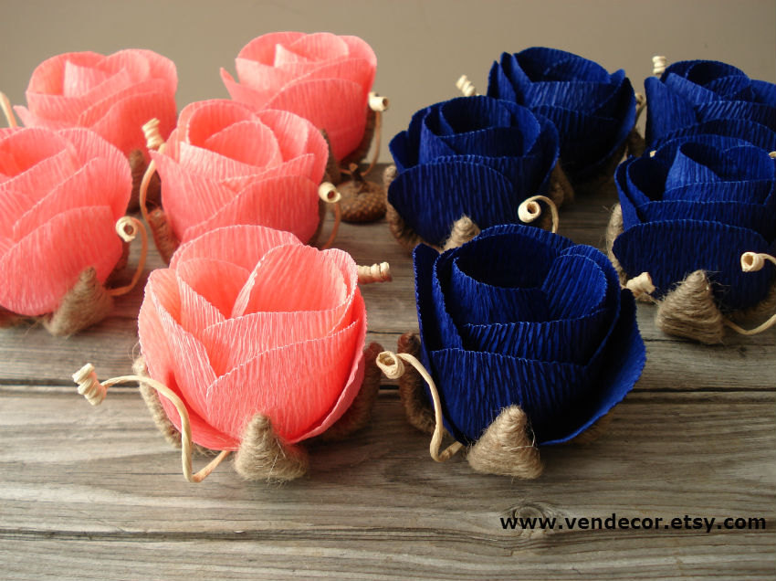 Coral And Blue Wedding Decorations