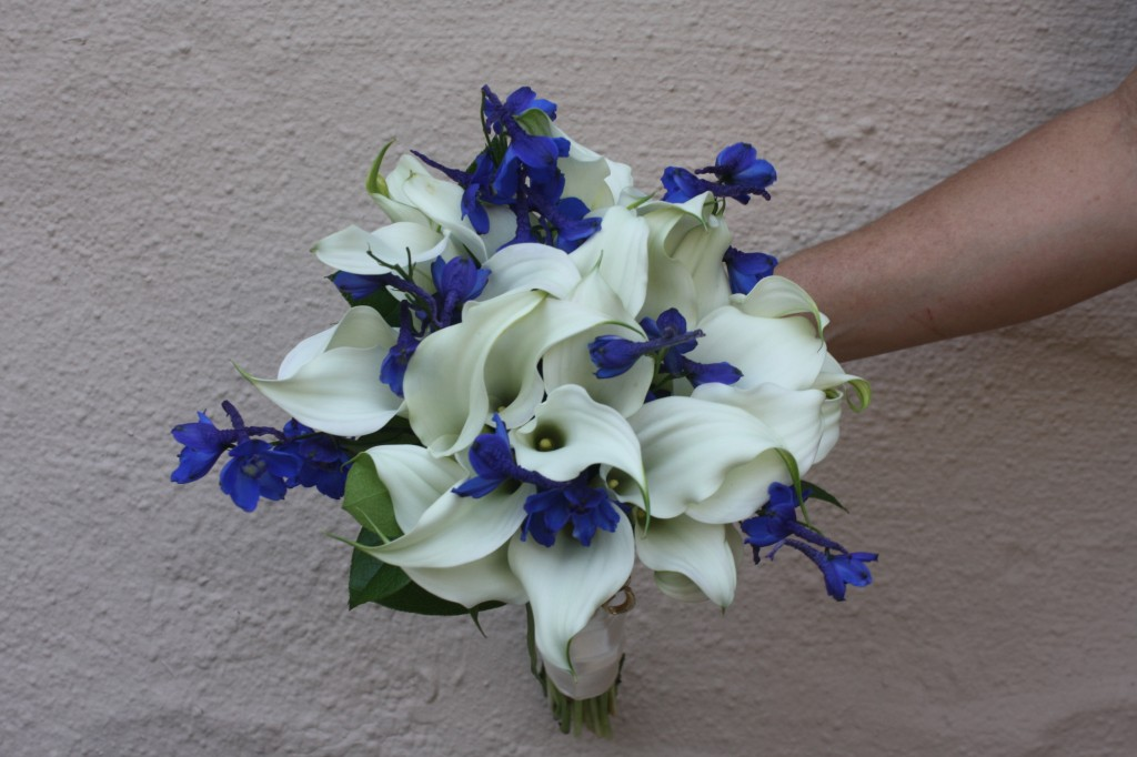Dark Blue Delphinium Wedding Flowers