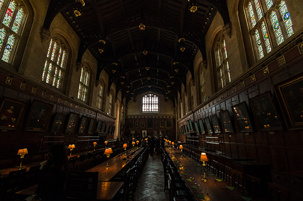 Hogwarts dining hall in Oxford
