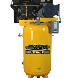7 5 hp air compressor single phase 80 gallon vertical emax industrial plus [ 2221 x 3118 Pixel ]