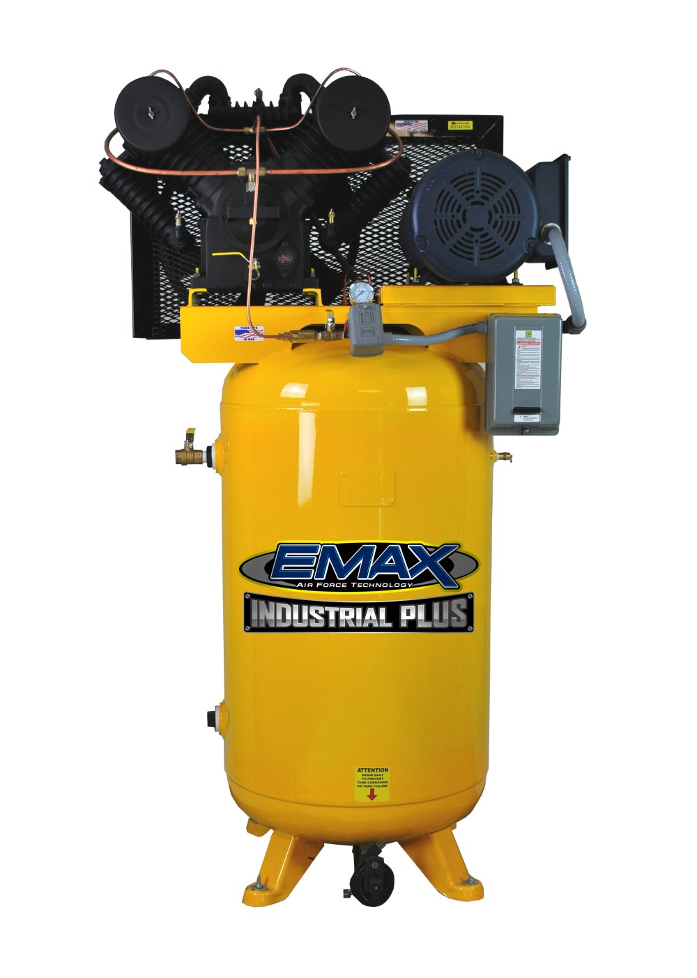 medium resolution of 7 5 hp air compressor single phase 80 gallon vertical emax industrial plus