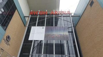 Entrada do centro de convenções