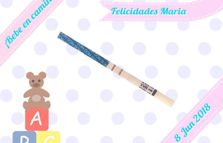 Test embarazo positivo - Felicidades Maria =)