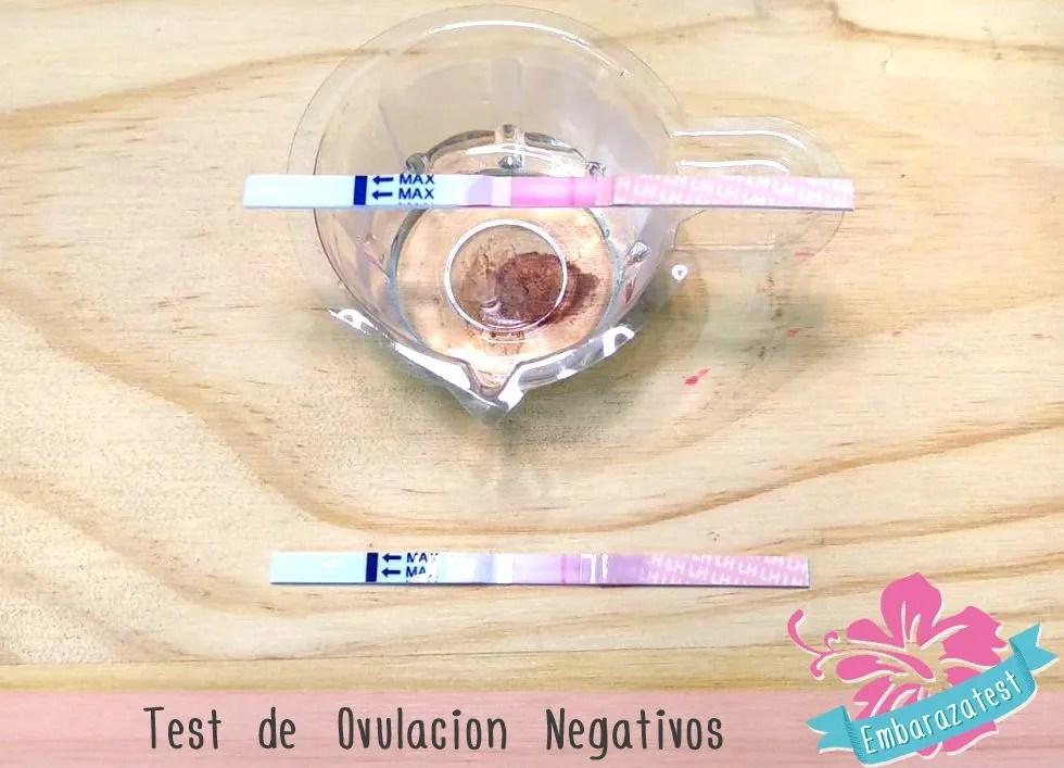 test de ovulacion negativo