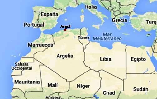 Mapa do norte da África
