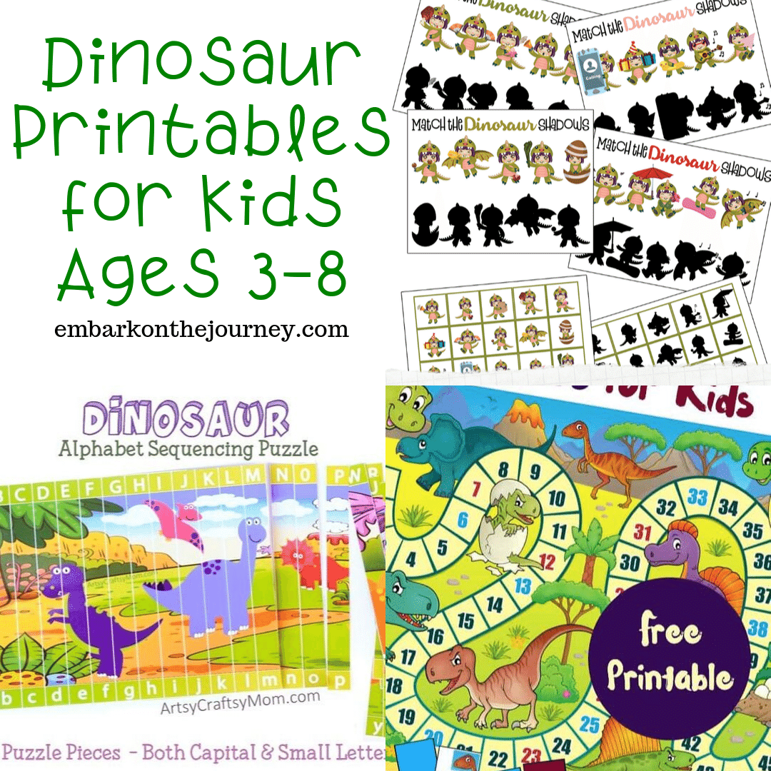 Dinomite Dinosaur Printable Activities For Kids Ages 3 8