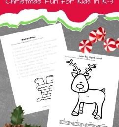 Free Christmas Language Arts Printable for Grade K-3 [ 1102 x 735 Pixel ]