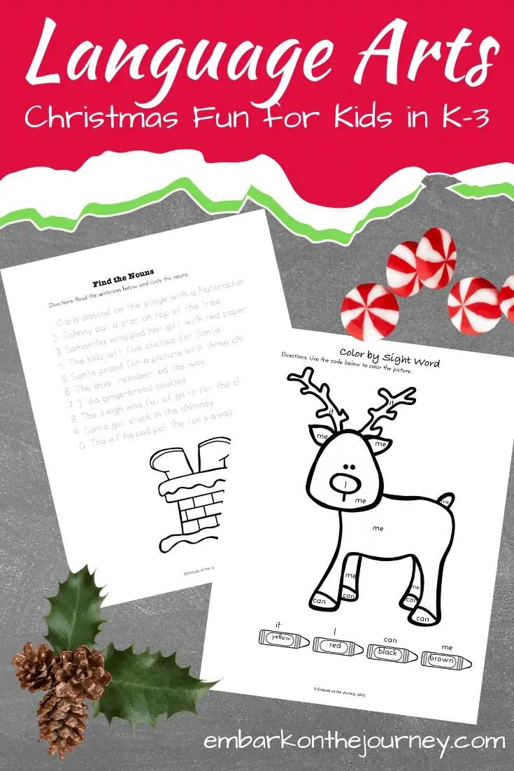medium resolution of Free Christmas Language Arts Printable for Grade K-3