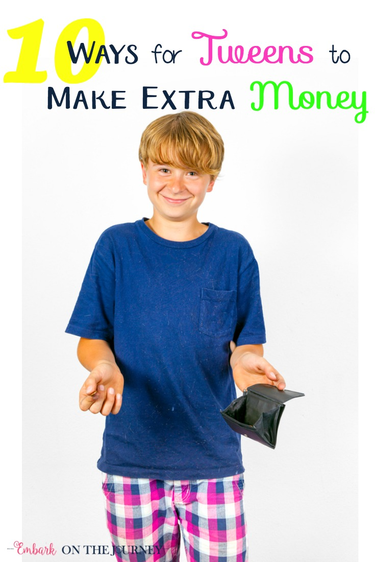 "Tweens can learn responsibility and money management by earning their own money. While they can't go out and get a ""real"" job, there are plenty of ways they can earn money close to home. Together with my tween, we've compiled a list of ten ways tweens can make money. 