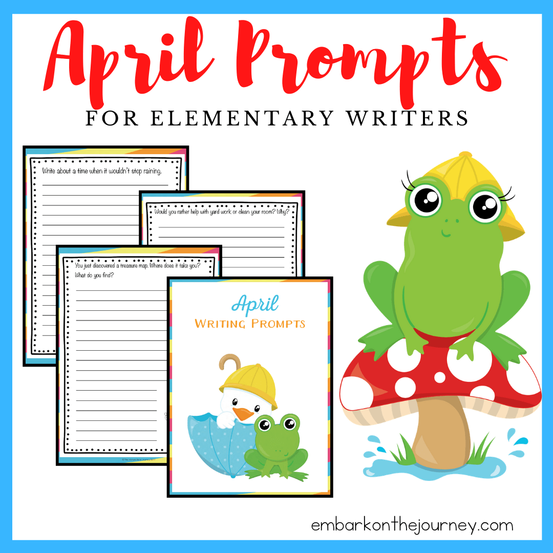 Free Printable April Writing Prompts For Elementary