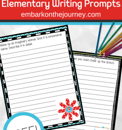 Printable March Writing Prompts for Elementary Students [ 1102 x 735 Pixel ]