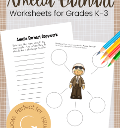 Printable Amelia Earhart Worksheets for Elementary Ages [ 1500 x 1000 Pixel ]